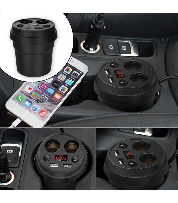 3 в 1 волтметър, разклонител и зарядно за кола в чашка - 9