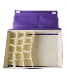 Текстилен органайзер за бельо и чорапи с 16 отделения - 5
