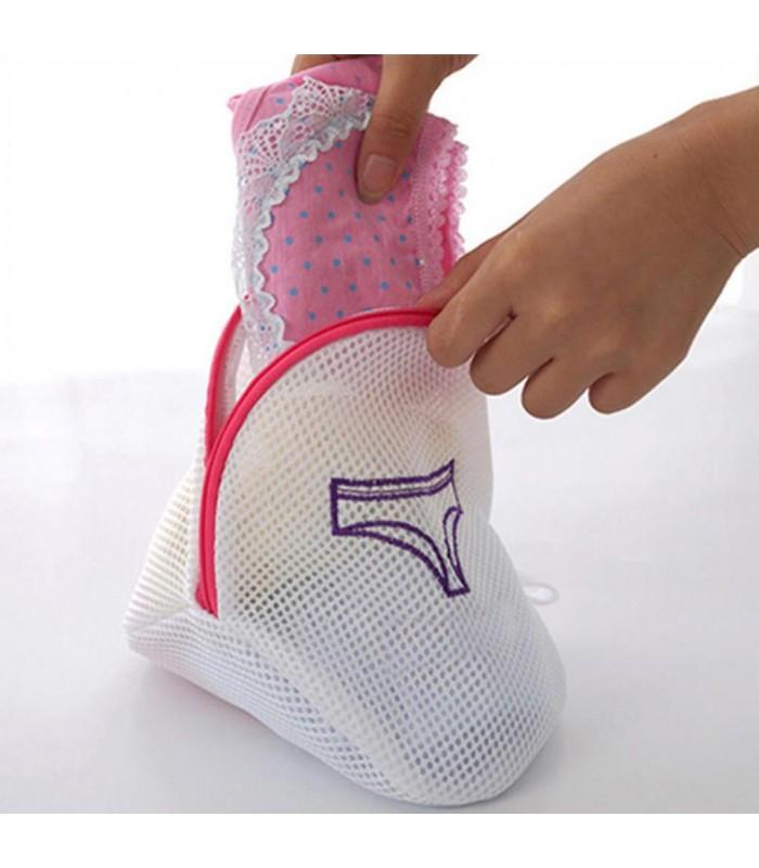 Мрежести торбички за пране в пералня - 3