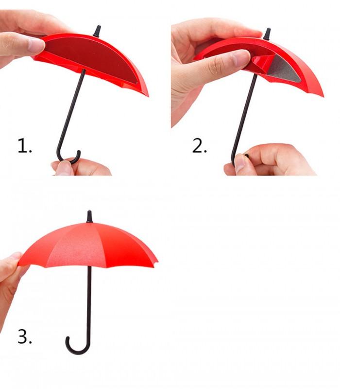Лепящи закачалки чадърчета - 4
