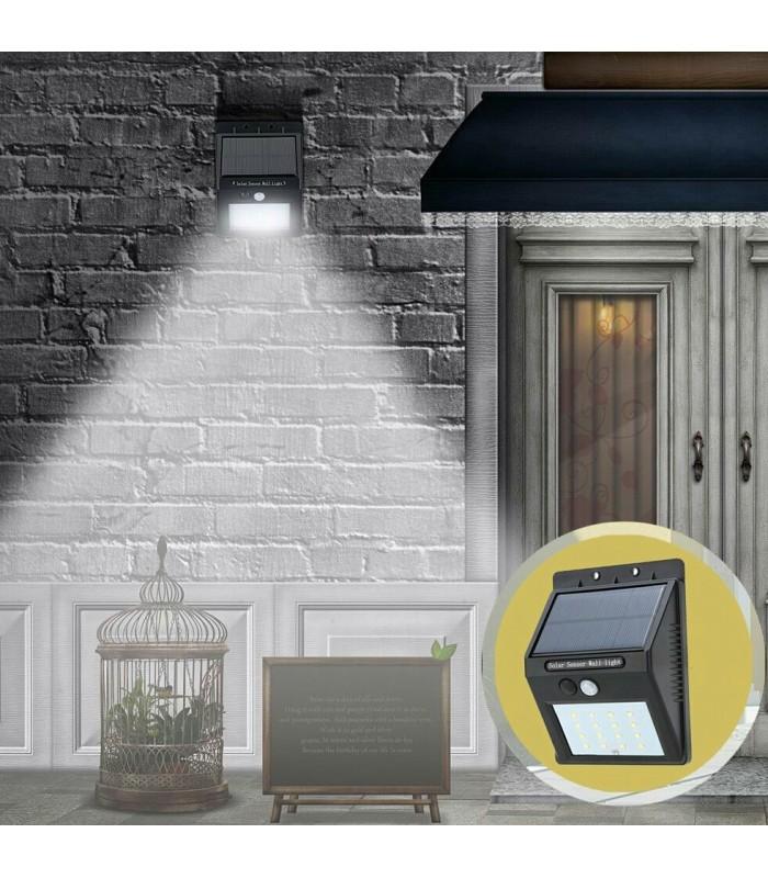 LED лампа със соларен панел и датчик за движение - 6