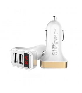 Дигитален волметър за запалка на кола с 2бр. USB - модел 1980
