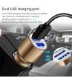Метален корпус USB адаптер зарядно за GSM за кола