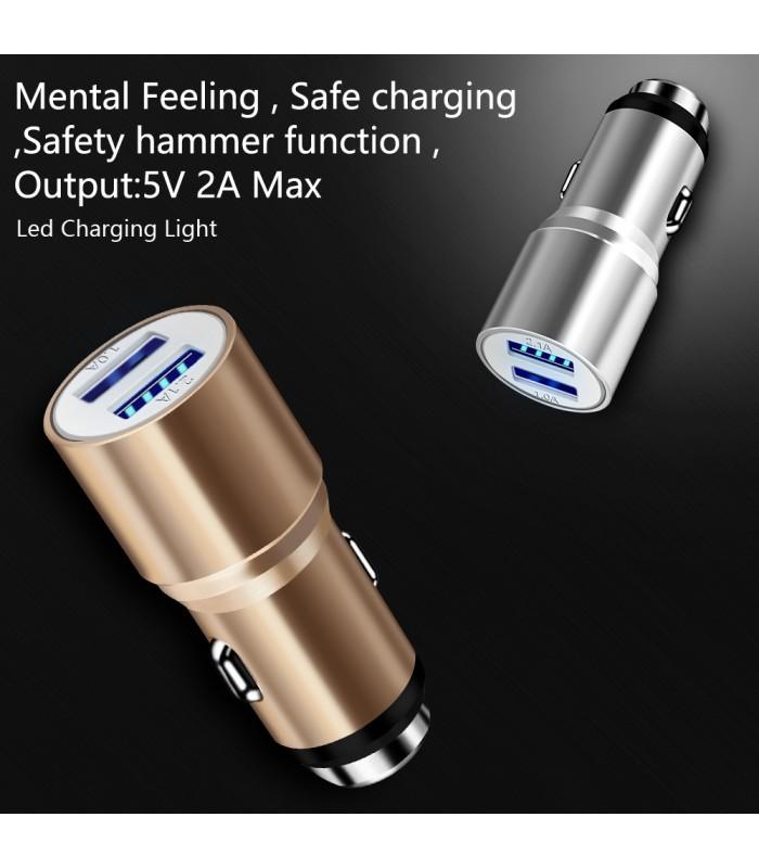 Метален корпус USB адаптер зарядно за GSM за кола - 6