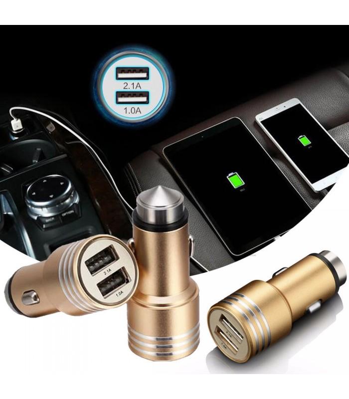 Двойно USB зарядно 3.1A за кола модел Hammer - 3