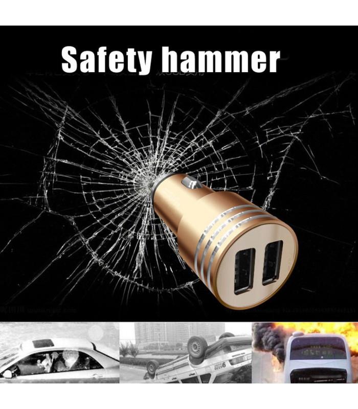 Двойно USB зарядно 3.1A за кола модел Hammer - 8