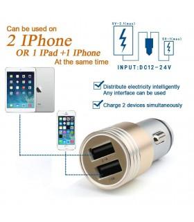 Двойно USB зарядно 3.1A за кола модел Hammer - 9