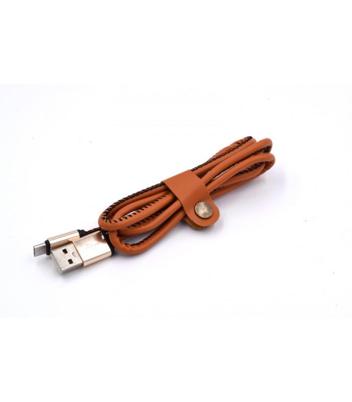 1 метър USB кабел за зареждане на телефон с кожено покритие - 6