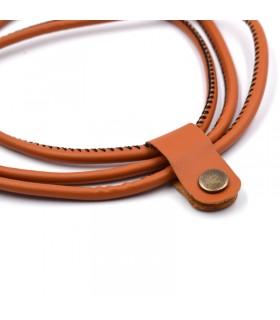 1 метър USB кабел за зареждане на телефон с кожено покритие - 7