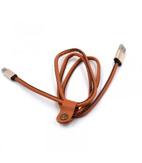 1 метър USB кабел за зареждане на телефон с кожено покритие - 8