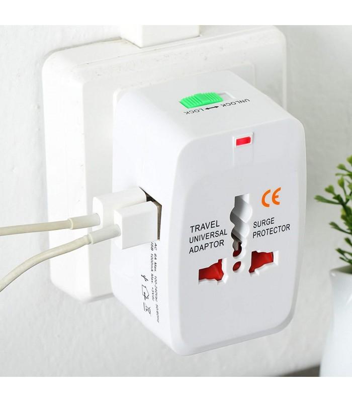 Универсален преходник за контакт с 2бр. USB