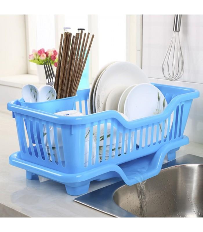 Сушилник за чинии с табла за директно отцеждане на водата в мивката - 1