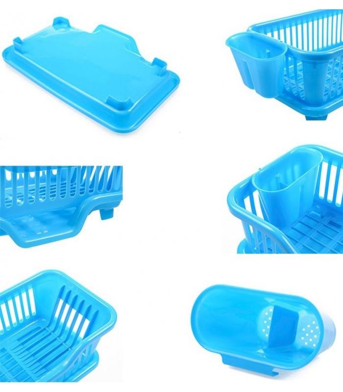 Сушилник за чинии с табла за директно отцеждане на водата в мивката - 2