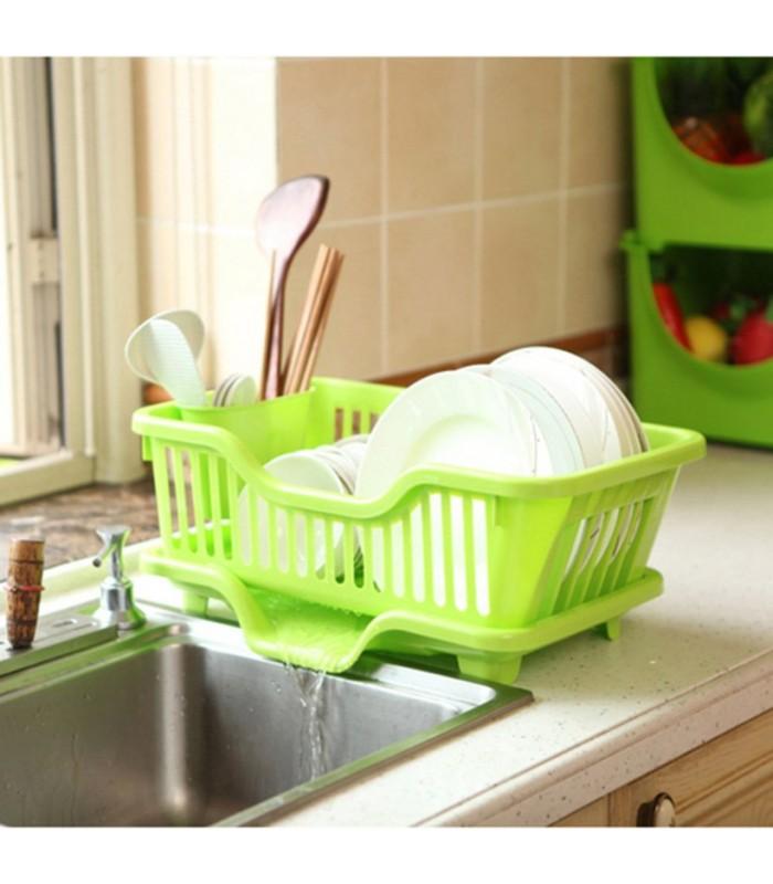 Сушилник за чинии с табла за директно отцеждане на водата в мивката - 4