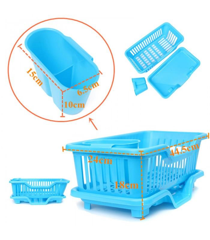 Сушилник за чинии с табла за директно отцеждане на водата в мивката - 7