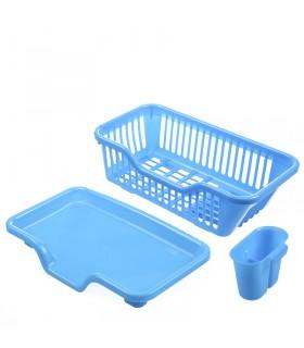 Сушилник за чинии с табла за директно отцеждане на водата в мивката - 9