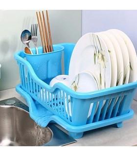Сушилник за чинии с табла за директно отцеждане на водата в мивката - 10