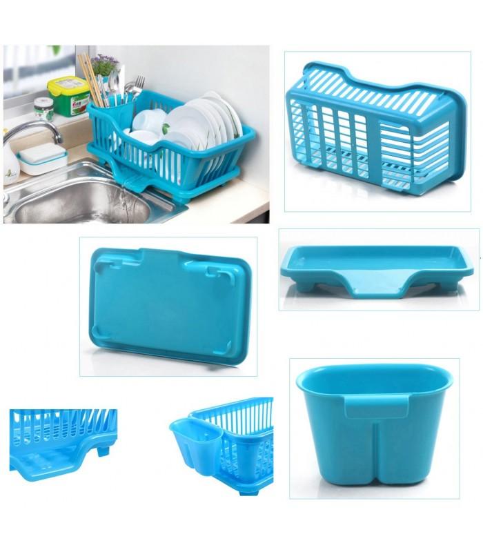 Сушилник за чинии с табла за директно отцеждане на водата в мивката - 5