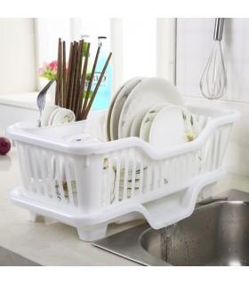 Сушилник за чинии с табла за директно отцеждане на водата в мивката - 3