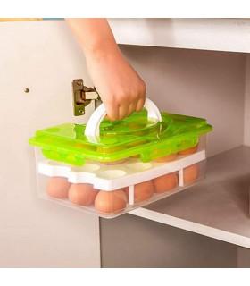 Кутия за съхранение и пренасяне на яйца с дръжка