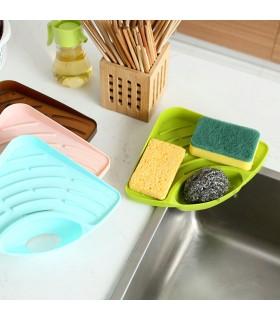 Ъглова поставка за мивка с отвор за отцеждане на водата - 3