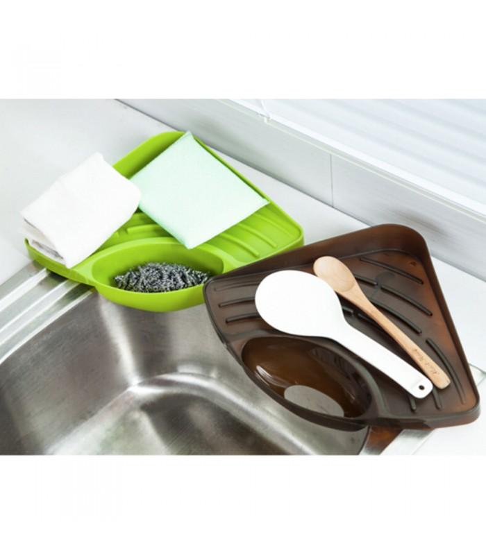 Ъглова поставка за мивка с отвор за отцеждане на водата - 7