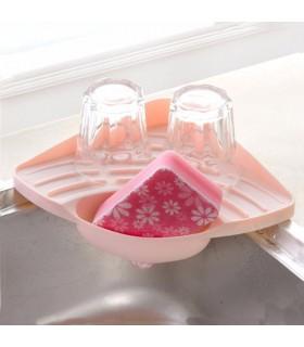 Ъглова поставка за мивка с отвор за отцеждане на водата - 8