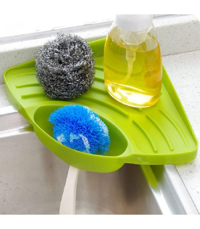 Ъглова поставка за мивка с отвор за отцеждане на водата - 2