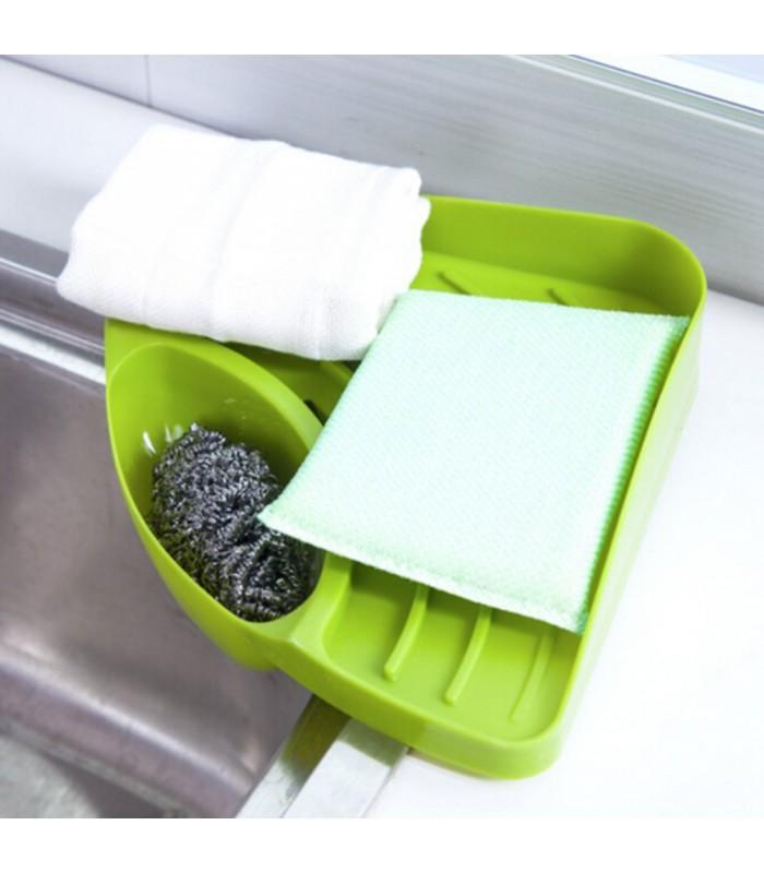 Ъглова поставка за мивка с отвор за отцеждане на водата - 9