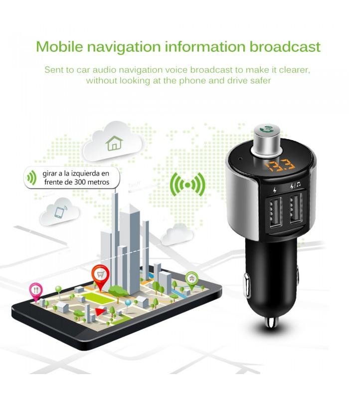 Bluetooth трансмитер с волтметър, високоговорител и USB - 2006 - 10