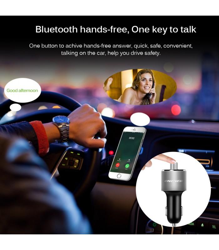Bluetooth трансмитер с волтметър, високоговорител и USB