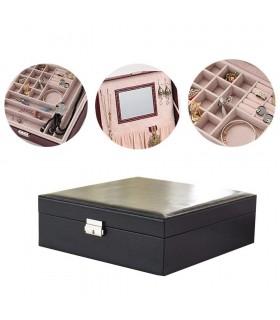 Кожена кутия за бижута с 2 нива - модел 2010 - 5