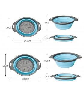Комплект 2бр. силиконови сгъваеми гевгира - 6