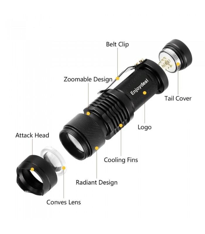 Малко LED фенерче 1000lm Q5 - 9