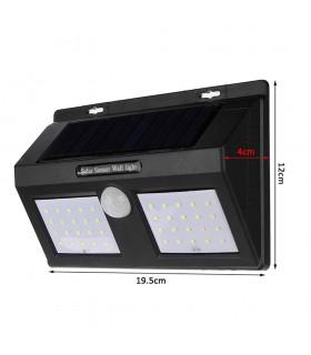 Водоустойчива външна соларна лампа с 40 диода и датчик за движение - 9