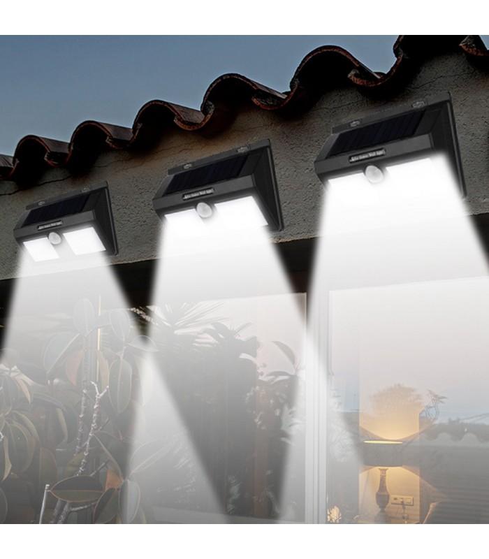 Водоустойчива външна соларна лампа с 40 диода и датчик за движение - 3