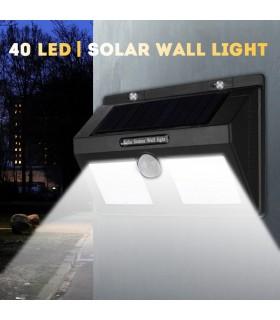 Водоустойчива външна соларна лампа с 40 диода и датчик за движение - 2