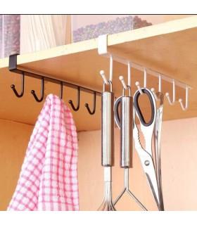 Кухненска закачалка за чаши и прибори - 6 куки - 7