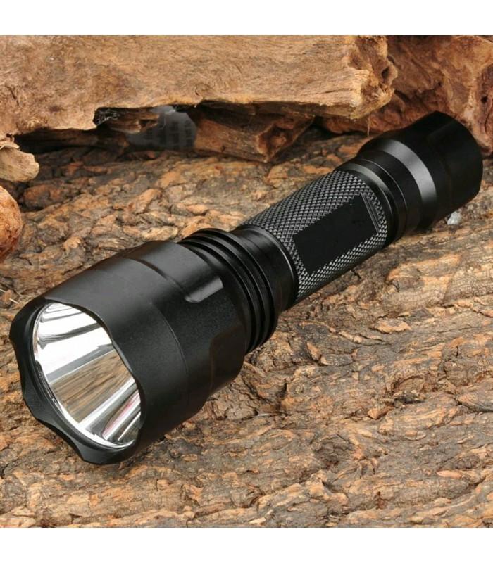Мощен акумулаторен лед фенер CREE LED T6 1600LM - 1