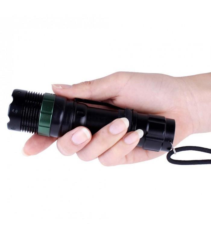 LED фенер с акумулаторна батерия, зарядно и ZOOM - 9