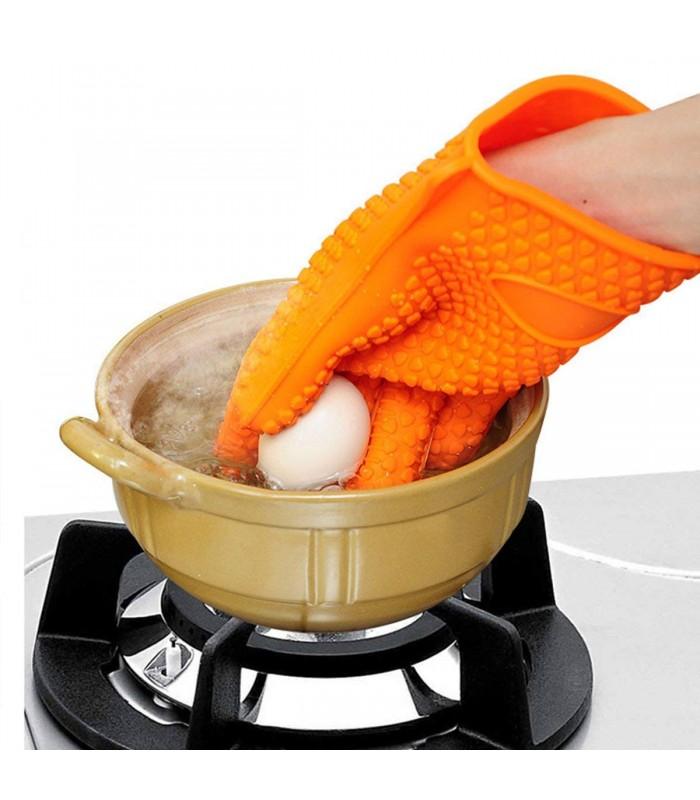 Силиконова ръкавица за горещо с 5 пръста - 8