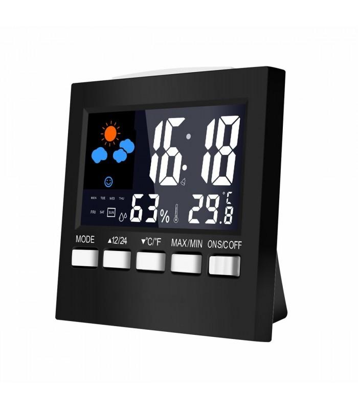 Настолен часовник с влагомер и термометър - модел 2159 - 4