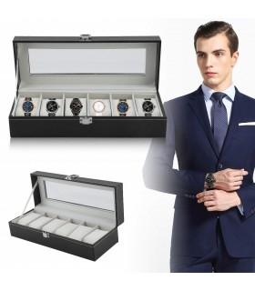 Кутия за часовници с 6 отделения - модел класик