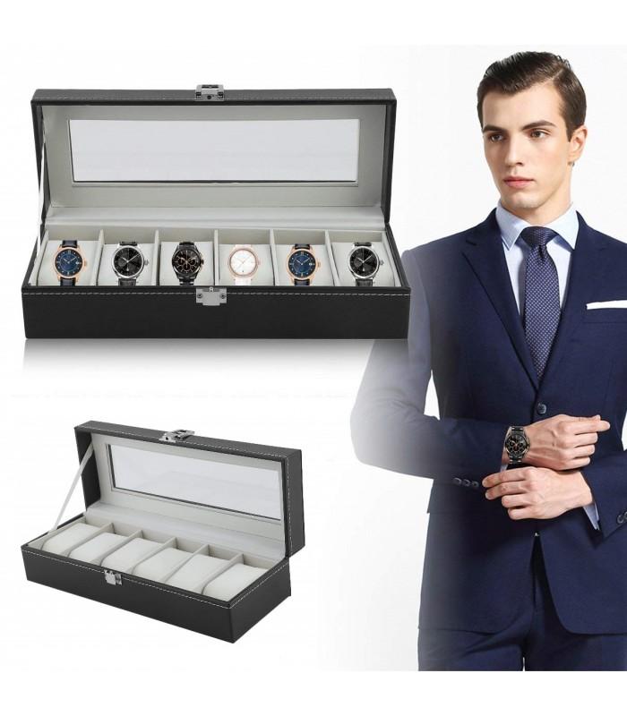 Кутия за часовници с 6 отделения - модел класик - 1