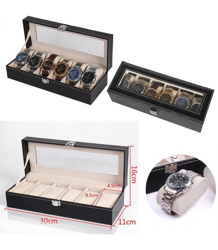 Кутия за часовници с 6 отделения - модел класик - 4