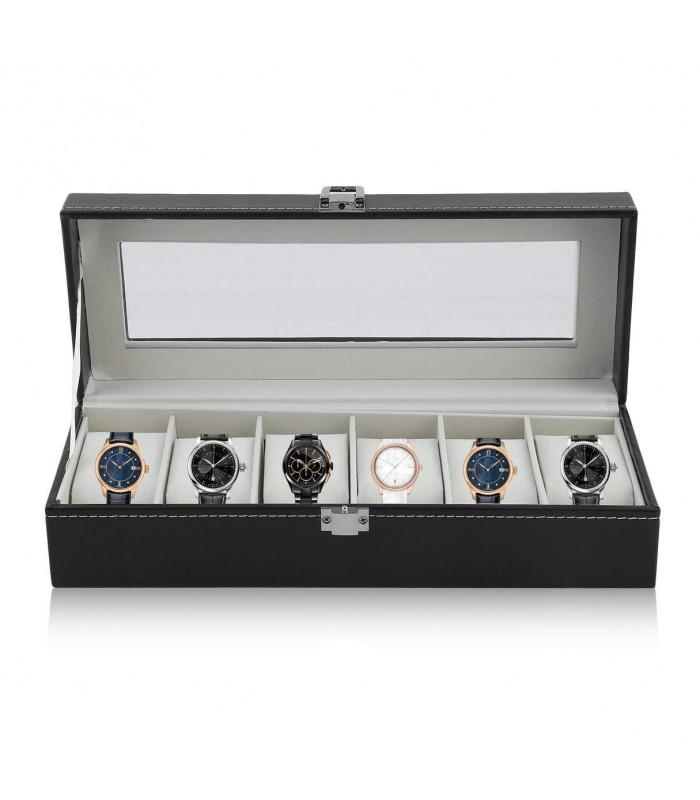 Кутия за часовници с 6 отделения - модел класик - 2