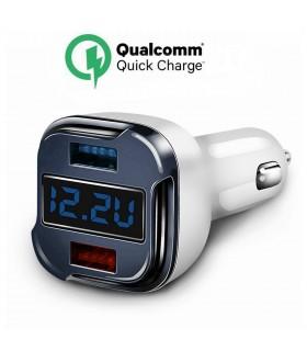 Волтметър за кола с 2бр. USB изхода за зареждане