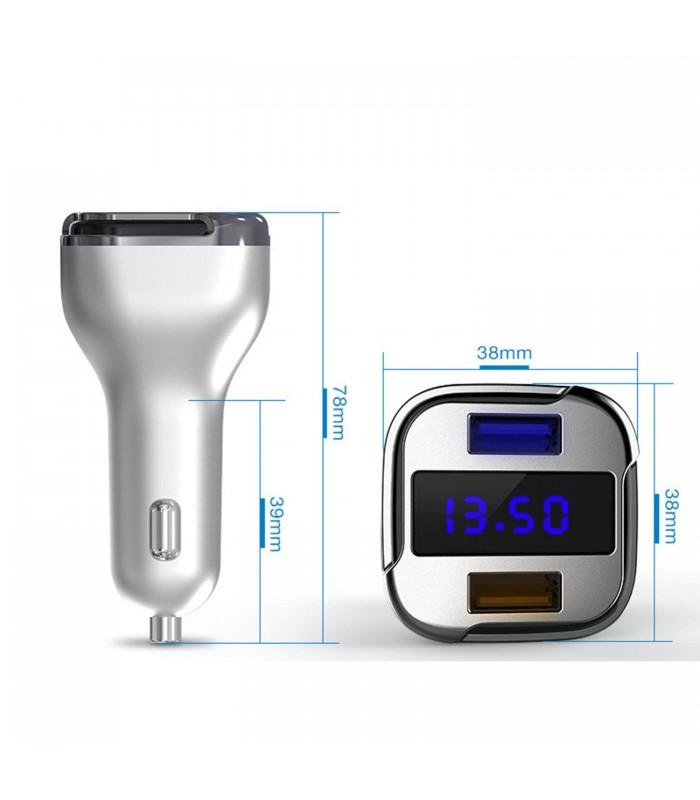 Волтметър за кола с 2бр. USB изхода за зареждане - 5