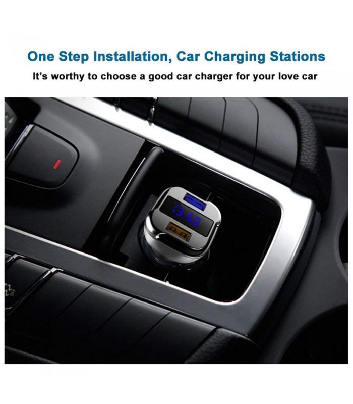 Волтметър за кола с 2бр. USB изхода за зареждане - 3