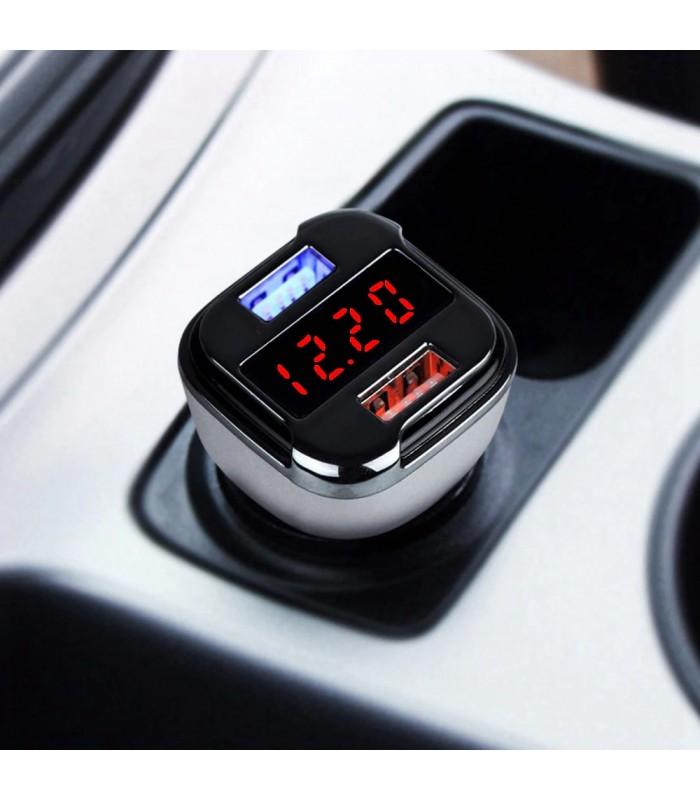 Волтметър за кола с 2бр. USB изхода за зареждане - 7
